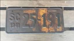 Título do anúncio: Placa De Carro Antiga Original Ano 1941!