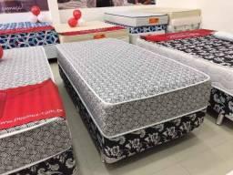 cama box de molas solteiro / Pelmex