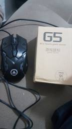 Título do anúncio: Mouse Gamer G5 estilo Carro, 4 velocidades, dpi ajustável rgb, 7 cores, retroiluminação.
