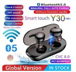 Fone de Ouvido Y30 TWS Bluetooth Touch Estéreo