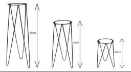 Kit 3 suporte para vasos