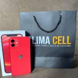 iPhone 12 Vermelho 64GB (Seminovo), Aparelho sem detalhes, Garantia Apple até 02/2022