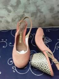 Título do anúncio: Sapatos scarpin salmon