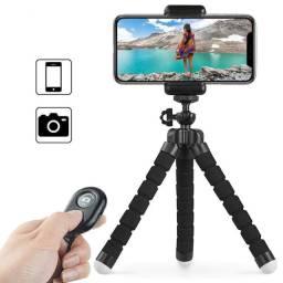 Kit YouTuber - Tripé Flexível e Bluetooth Shutter para Fotos e Vídeos + Brinde