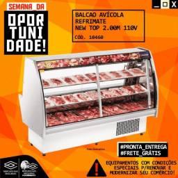 Título do anúncio: Balcão Avicola Refrimate New Top 2m Novo Frete Grátis