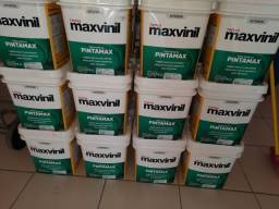 Oferta tinta acrílica fosca 18L maxvinil na Cuiabá Tintas.  Imperdível!!!