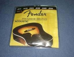 Cordas Fender Bronze Violão 011 retirar no local
