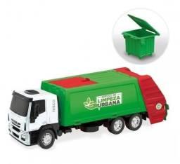 Caminhão Menino Iveco Coletor Lixo 342 Cor Sortida - Usual Plastic