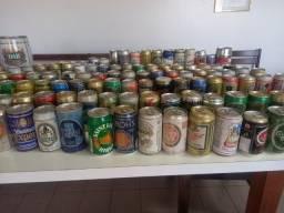 Vendo coleção de latas de cervejas nacionais e importados.