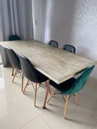 Título do anúncio: Mesa de jantar e 6 cadeiras