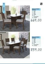 Título do anúncio: Mesa com 4 cadeiras New Cham