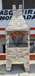 Título do anúncio: Decore seu ambiente com uma linda churrasqueira pré moldada tam.G 80x50x2.40