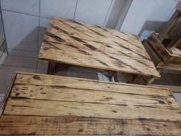 Título do anúncio: Jogo de mesa madeira