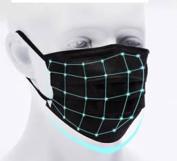 Máscara Descartável 3 Camadas - Grampo de ajuste no nariz - Entrega grátis