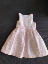 Vestido de festa rosa bebê(1/2 anos)