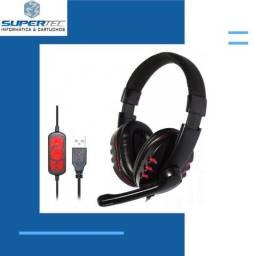 Título do anúncio: Fone com microfone conexão USB