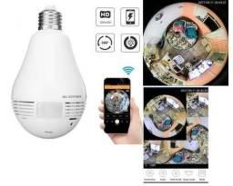 Câmera lampada wi-fi 360° áudio, microfone, alarme, gravação
