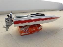 Lancha Rc Com Motor Rabeta K&b 3.5cc Nautimodelismo