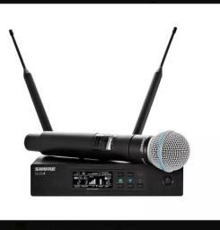 Microfone shure Qlxd 24 beta 58 sem fio de mão tc original