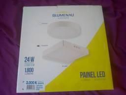 4 Luminárias de LED Sobrepor Quadradas 28x28cm - Bluemenau Iluminação