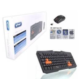 Kit teclado e mouse sem fio 2.4ghz wireless gamer