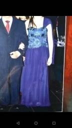 Vestido Longo Azul Marinho Tamanho P Veste 42 (entrego No Metrô)
