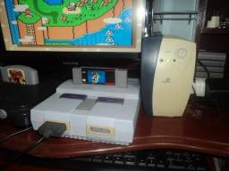 Super Nintendo com Mario world
