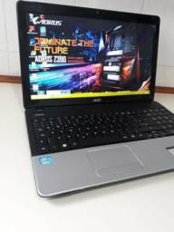 Vendo notebook acer, intel celeron, hd 500gb, memoria 4gb, tela 15,6, bateria boa