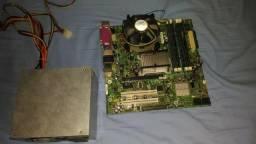 Kit Placa Mãe + Processador + Memória + Fonte