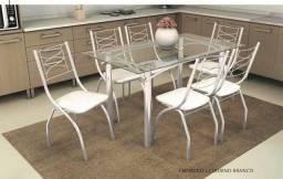 Mesa de jantar 06 cadeiras elba m004/ italia zap 062986423898 ou 062981952162