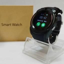 Relógio SmartWatch V8 - Pega Chip e Cartão de Memoria ( Com Camera )