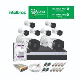 Kit circuito de câmeras de segurança: Kit 8 câmeras: