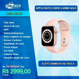 Apple Watch Serie 6 40mm Gold Rose (Lançamento 2020)