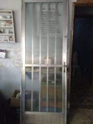 Porta de alumínio completa