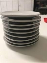 15 Pires de porcelana branco