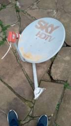 Antena sky 60cm com LNB