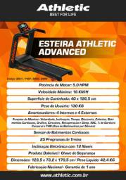 Esteira modelo Advanced com sistema de treino e sensor de pulso + cardio