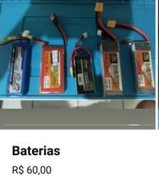 Baterias para Drones a partir 60 reais