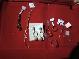 Semi jóias banhadas a ouro 18 kilates