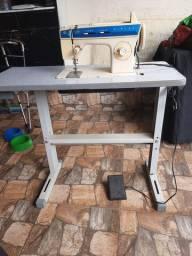 Máquina zig zag  motorizada de costura caseira