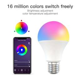 Título do anúncio: Lâmpada wifi Branca amarela e RGB 15W
