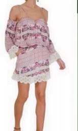 vestido curto estilo boho garnus