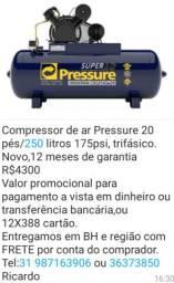 Compressor 250 litros Novo