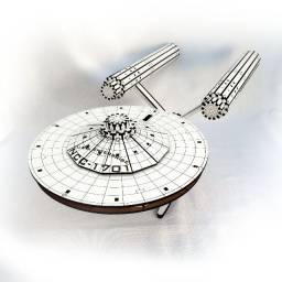 Nave USS Enterprise Ncc 1701 Star Trek Jornada nas estrelas em mdf