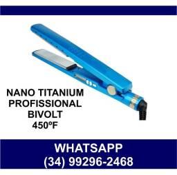 Título do anúncio: Prancha Profissional Nano Titanium 450ºF Bivolt * Fazemos Entregas