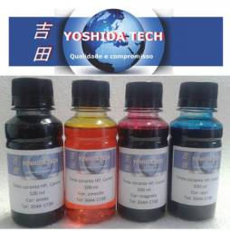 Kit Tinta Corante para HP e Canon 400 ml.
