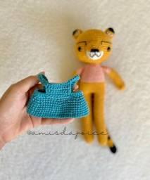 Boneca gueparda de crochê/amigurumi