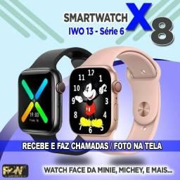 Smart Watch IWO 13 X8 / Coloca Foto / Recebe e Faz Chamadas