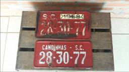 Título do anúncio: Par De Placas De Carro Antiga Ano 1958 Em Ótimo Estado!