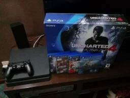 Playstation 4 uncharted 4 + 4 Jogos